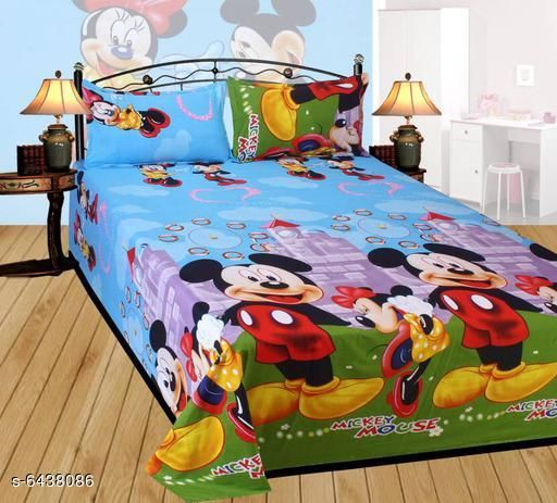 Printed Cotton 90 X 90 Double Bedsheet