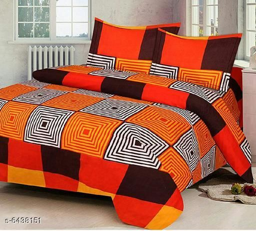 Printed Poly Cotton 90 X 90 Double Bedsheet