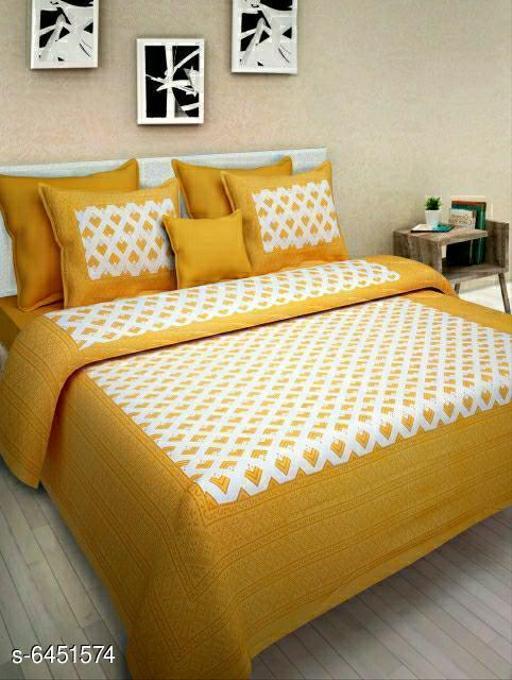 Trendy Cotton 90 X 90 Queen Printed Double  Bedsheets