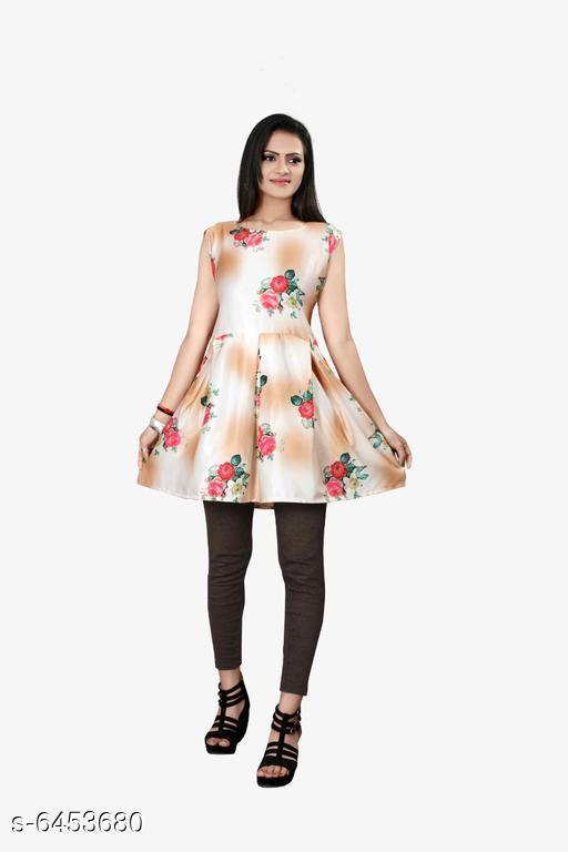 Women's Printed Multicolor Satin Dress