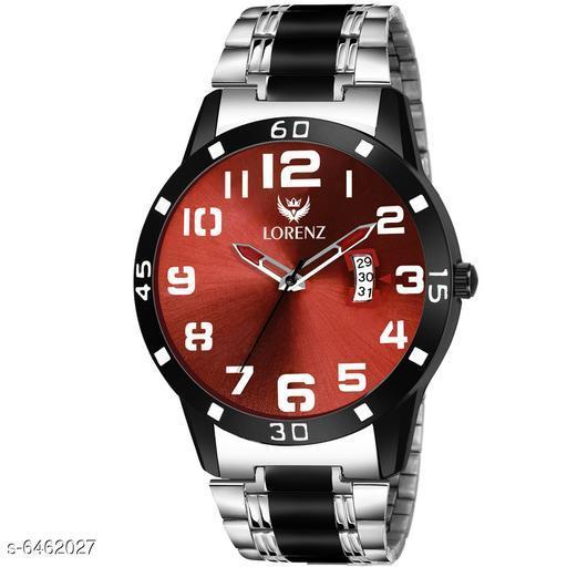 Lorenz Two Tone Chain & Maroon dial Watch for Men   Watch for Boys   MK-3054K