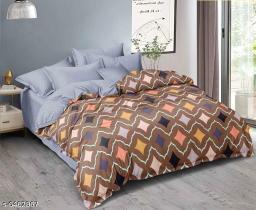 Trendy Cotton 100 x 90 Double Queen Bed Sheet