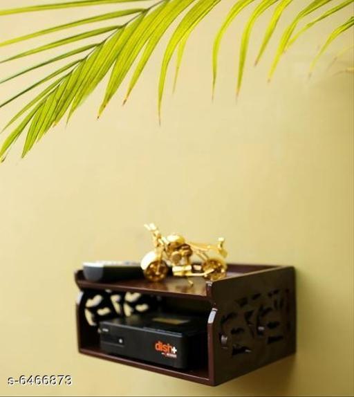 Wooden Beautiful Design Set top Box Wall Shelf 2