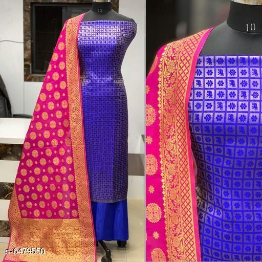 Elegant Banarasi Jacqurd Nylon Suits & Dress Materials