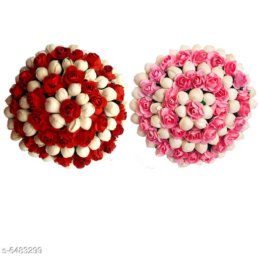 Hair Accessories  Bun Juda Maker Flower Gajra Hair Accessories For Women and Girls Multicolor Pack_02 Material: Paper Flower Multipack: 2 Sizes: Free Size Country of Origin: India Sizes Available: Free Size   Catalog Rating: ★4 (4)  Catalog Name: Diva Chic Women Hair Accessories CatalogID_1032076 C72-SC1088 Code: 224-6483299-