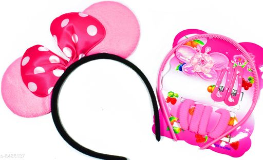 Hair Accessories Stylish Hair Accessories  *Material* Plastic  *Type* Hair accessories set  *Age Group* 2-12 Years  *Multipack* Set of 9  *Sizes*  Free Size  *Description* It Has 2 Piece of Hais Band & 1 Pair of  Hair Clips & 4 Pieces of Hair Bands & 1 Piece of butterfly Hair Clip  *Sizes Available* Free Size *    Catalog Name: Stylish Hair Accessories CatalogID_1032564 Code: 204-6486137-