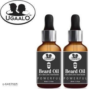 Men's Grooming Ugaalo Powerful Faster Beard Growth OIl-30ML-Packof-2-Bottle- Hair Oil (60 ml)  *Product Name* Ugaalo Powerful Faster Beard Growth OIl-30ML-Packof-2-Bottle- Hair Oil (60 ml)  *Brand Name* Ugaalo  *Type* oil  *Multipack* 2  *Capacity* 30 ml(Each)  *Sizes Available* Free Size *    Catalog Name:  Advanced Proctective beard Oil CatalogID_1032850 C51-SC1662 Code: 523-6487925-
