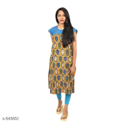 Kurtis & Kurtas Designer Cotton Printed Kurti  *Fabric* Cotton  *Sleeves* Short Sleeves Are Included  *Size* S - 36 in  *Length* Up To 46 in  *Type* Stitched  *Description* It Has 1 Piece Of Kurti  *Work* Printed  *Sizes Available* S   SKU: ladies-printed-kurti-500x500 Free shipping is available for this item. Pkt. Weight Range: 300  Catalog Name: Alice Designer Cotton Printed Kurtis Vol 2 - SANVI APP Code: 5641-649601--