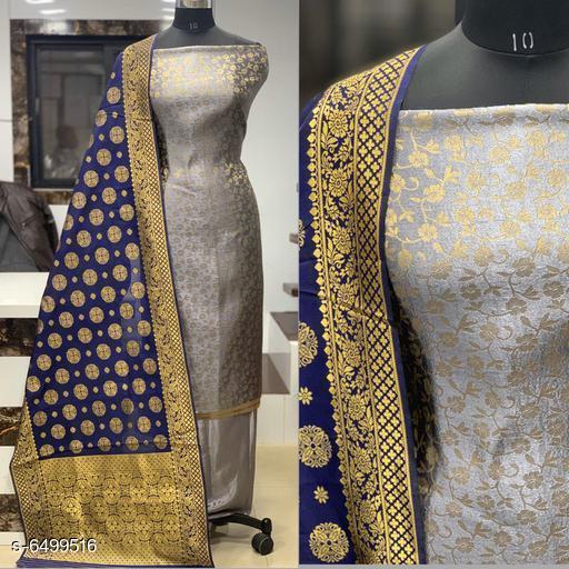 Trendy Women's Banarasi Jacqurd Nylon Suit & Dress Materials