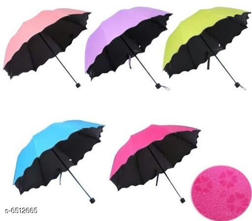 Umbrellas Stylish Umbrellas  *Material* Polyester  *Pattern* Printed  *Multipack* 1 Pair  *Sizes* Free Size  *Sizes Available* Free Size *    Catalog Name: Stylish Umbrellas CatalogID_1037628 C72-SC1090 Code: 815-6512665-