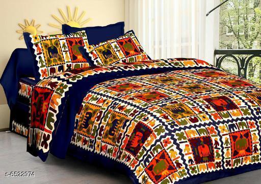Stylish Cotton 100 x 90 Double Bedsheets