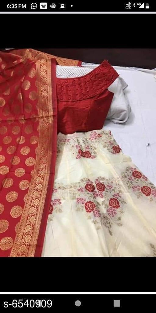 Banarasi Silk Jeqard Fabric Lehengha With Inner
