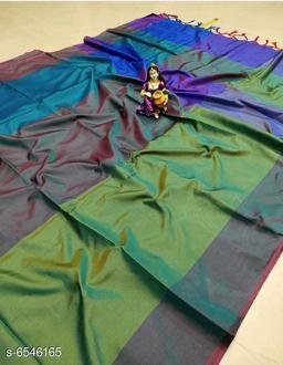 Colorblocked Art Silk Saree
