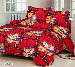 Stylish Polycotton 90 x 90 Double Bedsheets