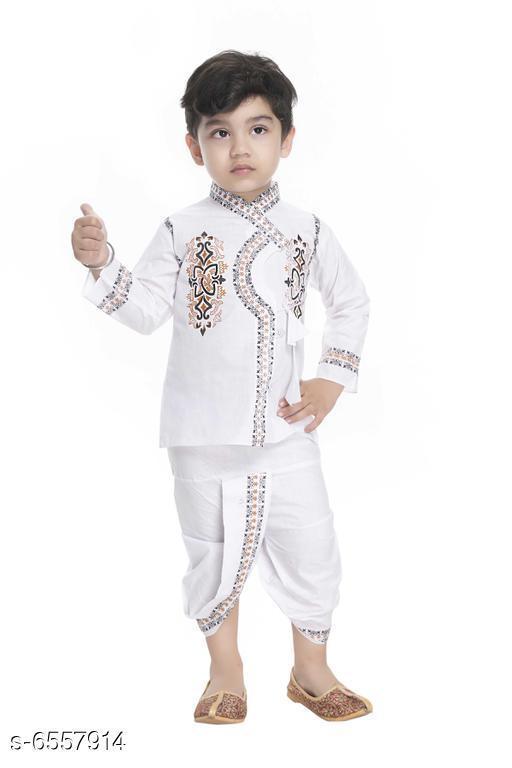 Trendy Banarasi Silk Boys Kurta Sets
