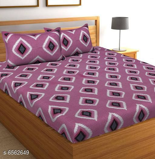Trendy Cotton Double Bedsheet With 2 Pillow Covers