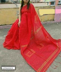 Stylish Silk Cotton Women's Saree