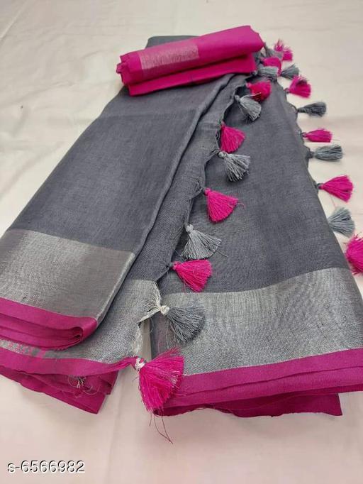 Stylish Linen Women's Saree