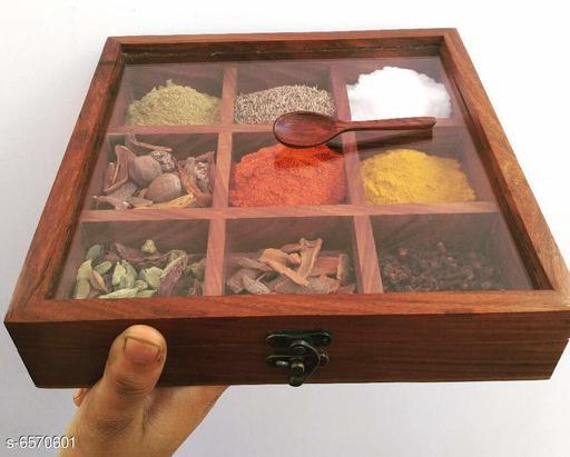 Spice box for kitchen 9 compartment