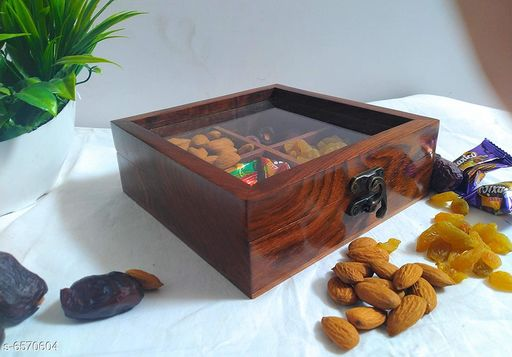 Wooden dryfruit Box/ 4 compartments