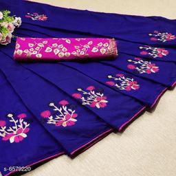 Colorful Women Chanderi Cotton Sarees