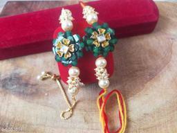 Anuttams beautifull beads rakhi /pair rakhi/couple rakhi/bhaiya bhabi rakhi