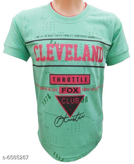 Tshirts & Polos Pretty Fancy Boys Tshirts  *Fabric* Cotton  *Sleeve Length* Short Sleeves  *Pattern* Printed  *Multipack* Single  *Sizes*  3-4 year kids boys chest 14