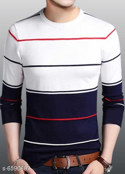 Elegant Cotton Men Tshirt