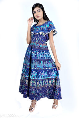 Dhruvi Casual Wear Jaipuri Cotton Dress