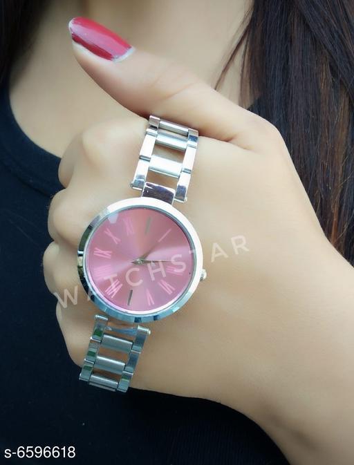 Trendy new design analog steel belt watch for girls