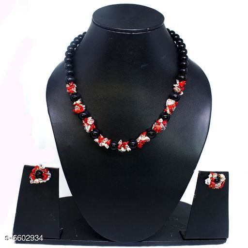 Jewellery Set Attractive Gemstone Necklace   *Base Metal* Gemstone  *Stone Type* Artificial Stones  *Sizing* Adjustable  *Type* Necklace and Earrings  *Multipack* 1  *Sizes Available* Free Size *    Catalog Name: Elite Beautiful Jewellery Sets CatalogID_1052094 C77-SC1093 Code: 045-6602934-