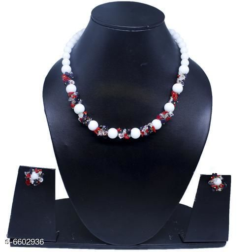 Jewellery Set Attractive Gemstone Necklace   *Base Metal* Gemstone  *Stone Type* Artificial Stones  *Sizing* Adjustable  *Type* Necklace and Earrings  *Multipack* 1  *Sizes Available* Free Size *    Catalog Name: Elite Beautiful Jewellery Sets CatalogID_1052094 C77-SC1093 Code: 045-6602936-