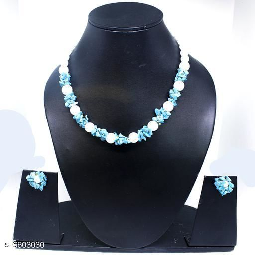 Jewellery Set Attractive Gemstone Necklace   *Base Metal* Gemstone  *Stone Type* Artificial Stones  *Sizing* Adjustable  *Type* Necklace and Earrings  *Multipack* 1  *Sizes Available* Free Size *    Catalog Name: Twinkling Beautiful Jewellery Sets CatalogID_1052110 C77-SC1093 Code: 045-6603030-
