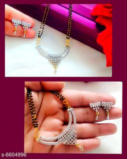 Beautiful American Diamond Mangalsutra with Earrings