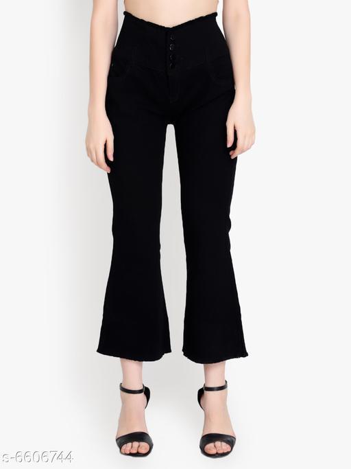 Urbane Feminine Women Bell Bottom Jeans