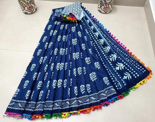 Charming cotton mulmul saree