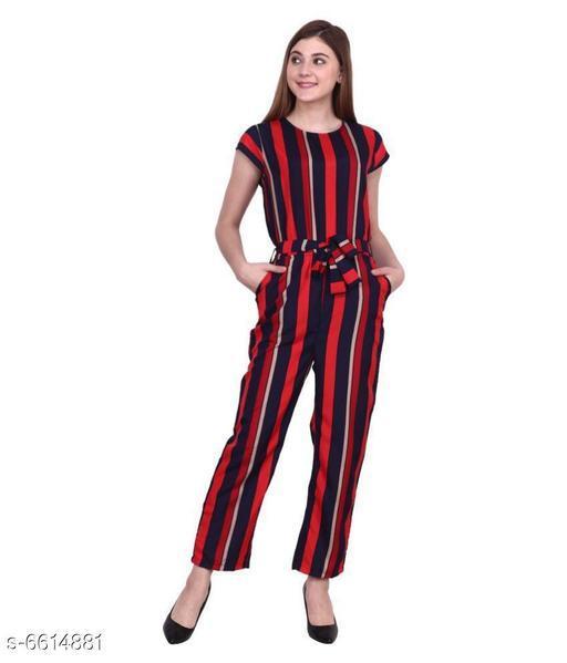 Elegant Crepe Women Jumpsuits