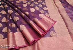 banarasi muslin kora silk designer saree