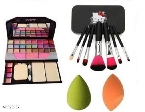 Premium Quality makeup kit combo of 6155 with hello kitty black and 2puff