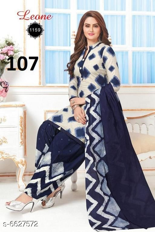 Trendy Women's Leon Crepe Suits And Dress Material