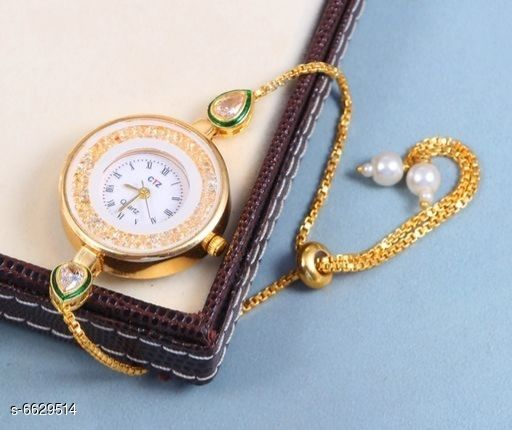 Gold plated Watch party wear Daily used watch for women