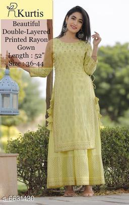 Trendy Drishya Women Kurti with Skirt