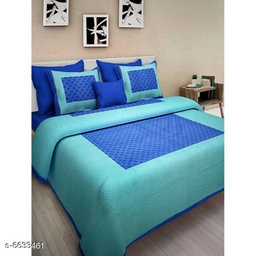 Attractive Cotton 100 x 90 Double Bedsheets