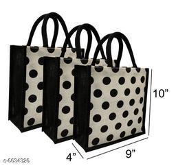 Beautiful Women's Cream Jute Handbag