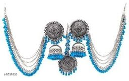 Allure Oxidized Earring & Maangtikka Sets