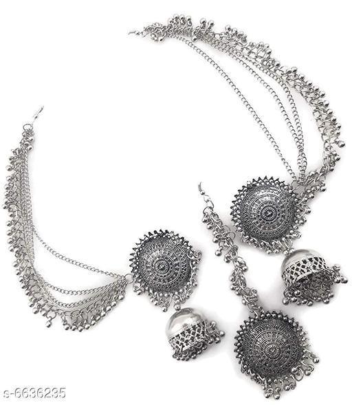 Allure Colorful Oxidised Silver Jewellery Sets