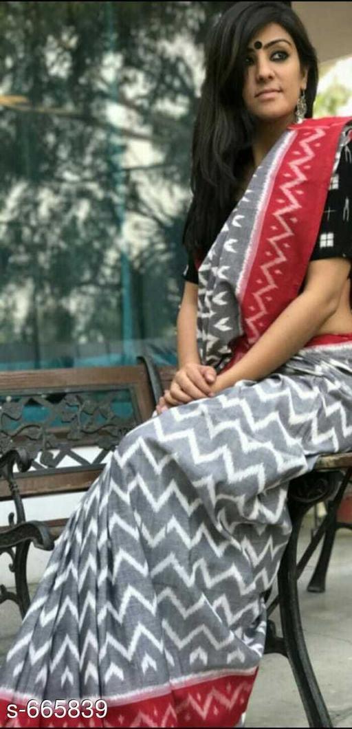 Bright  Ethnic Cotton Tassel Work Saree