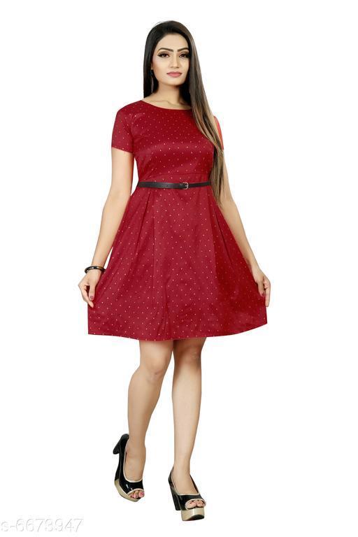 Women's Embroidered Multicolor Taffeta Silk Dress