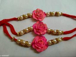 Elegant Thread Rakhi Combo