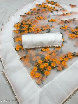 Elegant Net Embroidery Work Saree